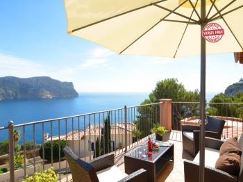 Villa with incredible sea views and pool sleeps 7 - Apartment in Port Andratx